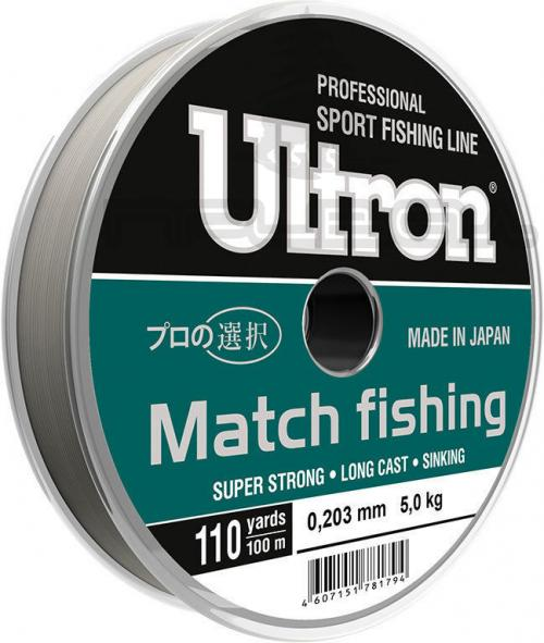 Леска ULTRON  Match Fishing 100м светло голуб. 0,190 4,2кг